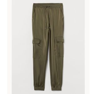 H&M Satin Cargo Trousers, size 4